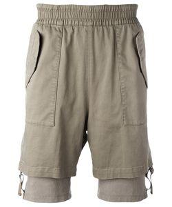 Helmut Lang | Layered Cuff Shorts Size Large