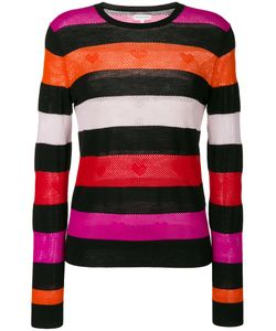 Chinti And Parker | Heart Embroidered Striped Sweater Women