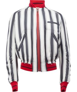 Haider Ackermann | Striped Bomber Jacket Large Silk/Cotton/Rayon