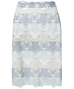 Ermanno Scervino | Lace Pencil Skirt 44 Nylon/Silk