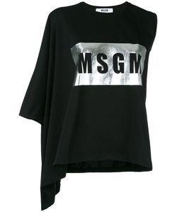 MSGM | Asymmetric Logo T-Shirt Medium Cotton