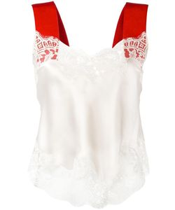 Givenchy | Contrast Strap Lace Camisole 38 Cotton/Silk/Polyimide