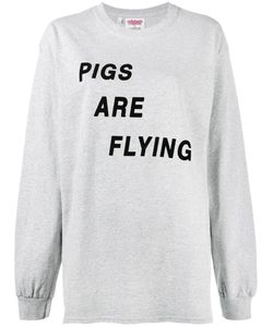 Ashish | Pigs Are Flying T-Shirt Large Cotton
