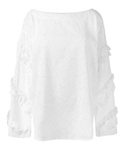 MSGM | Boat-Neck Broderie Blouse 40