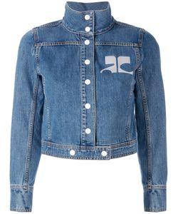 Courreges | Courrèges Embroidered Logo Denim Jacket