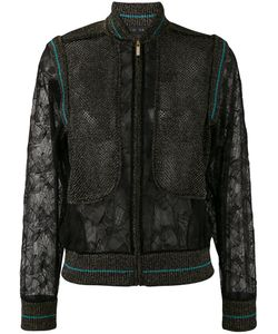 Elie Saab | Куртка-Бомбер С Кружевными Панелями