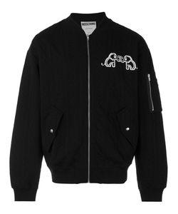 Moschino   Куртка-Бомбер С Логотипом Сзади