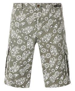 Pt01   Paisley Print Shorts Size 50