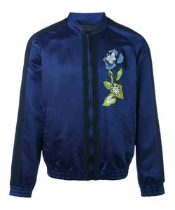 Christian Pellizzari | Embroidered Satin Bomber Jacket