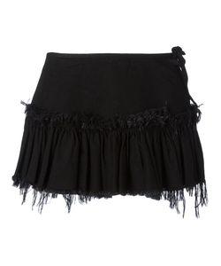 Marques Almeida | Marquesalmeida Frayed Trim Pleat Skirt 10 Cotton