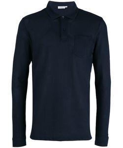 Sunspel | Plain Polo Shirt Large Cotton
