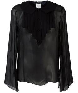 Chanel Vintage | Ruffled Bib Shirt Size
