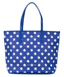 ARMANI JEANS | Perforated Circle Print Tote