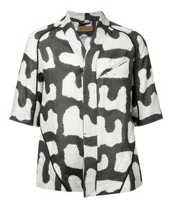 ABASI ROSBOROUGH | Printed Collarless Shirt Size Small