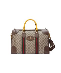 Gucci | Soft Gg Supreme Duffle Bag With Web