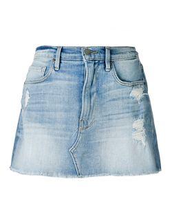 Frame Denim | Distressed Denim Skirt