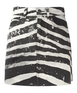 Marc Jacobs | Distressed Zebra Print Mini Skirt 26