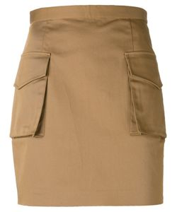 Dsquared2 | Military Mini Skirt 38 Cotton/Spandex/Elastane