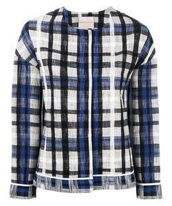 Erika Cavallini | Checked Jacket 42 Cotton/Polyamide/Spandex/Elastane
