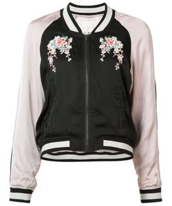 Joie | Embroidered Flower Bomber Jacket Size Small