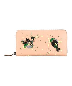 COACH | Beads Embellished Wallet Leather