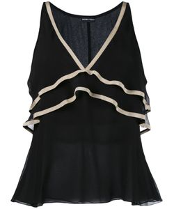 Emporio Armani | Vest With Contrast Colour Neck And Frill Detail