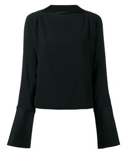 Haider Ackermann | Boat Neck Blouse 42 Acetate/Viscose