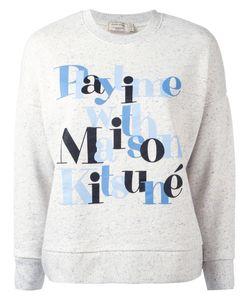 Maison Kitsune   Maison Kitsuné Playtime Print Sweatshirt Medium Cotton/Viscose/Polyester
