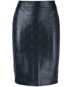 Roseanna | Boat Detail Skirt 36 Lamb Skin/Viscose
