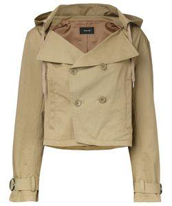 G.V.G.V.   Hooded Cropped Trench Jacket 34 Cotton/Nylon