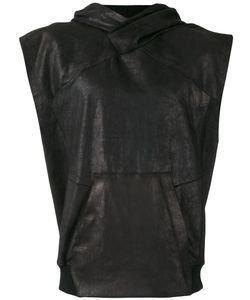 JULIUS | Sleeveless Leather Hoodie Size Iii