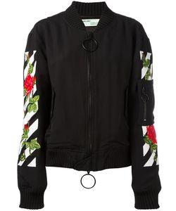 OFF-WHITE | Roses Logo Bomber Jacket Xxs Viscose/Polyester/Polyamide/Wool