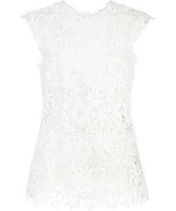 Monique Lhuillier | Lace Tank Top 6 Nylon/Polyester