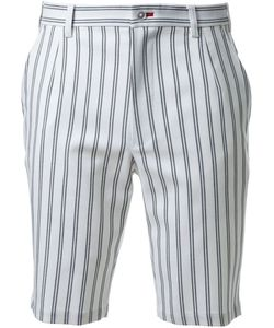 GUILD PRIME   Striped Knee Length Shorts