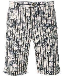 Incotex | Paisley Stripe Shorts 36