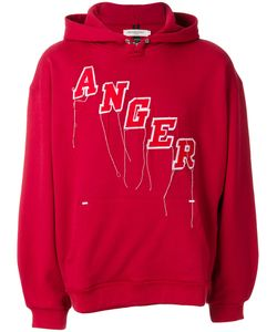 Mr. Completely | Anger Embroidered Hoodie Men