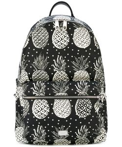 Dolce & Gabbana | Pineapple Print Backpack Nylon/Polyamide/Polypropylene/Calf Leather