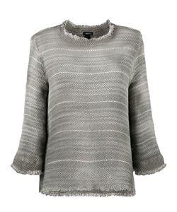 Avant Toi   Overdyed Open Weave Sweater