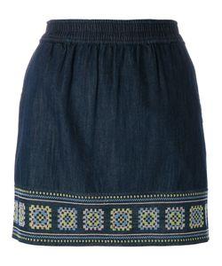 Vanessa Bruno Athe' | Vanessa Bruno Athé Embroidered Denim Skirt Size 40