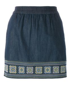 Vanessa Bruno Athe' | Vanessa Bruno Athé Embroidered Denim Skirt
