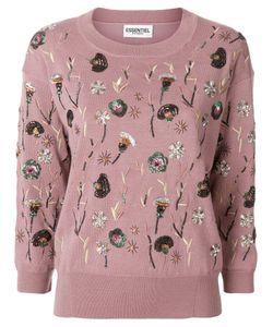 Essentiel Antwerp | Sequin Patch Sweater Women Nylon/Spandex/Elastane/Merino/Polyethylene