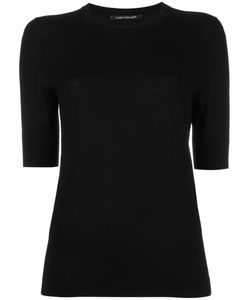 Luisa Cerano | Ribbed Trim Top 36 Merino
