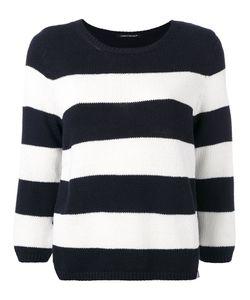 Luisa Cerano   Side Slit Striped Jumper Size 44