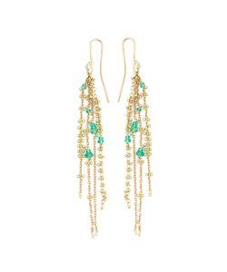 NATASHA COLLIS | Waterfall Emerald Pin Earrings