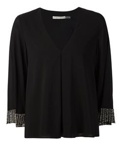 Alice+Olivia | Beaded Cuffs V-Neck Top
