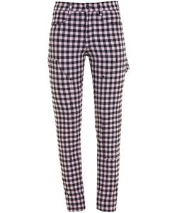 ADAM SELMAN | Gingham Stretch Jeans