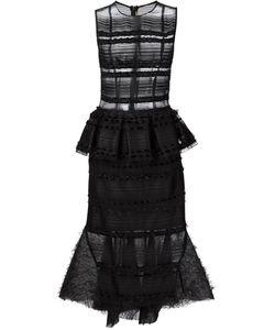 NATARGEORGIOU | Расклешенное Прозрачное Платье С Баской