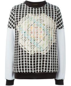 NATARGEORGIOU | Hand-Made Crochet Net Sweatshirt