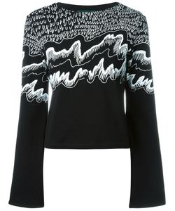 CLAIRE BARROW | Boat Neck Printed Sweater