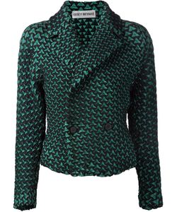 Issey Miyake | Geometric Pattern Double Breasted Jacket
